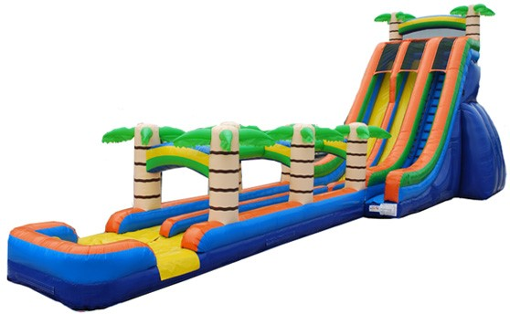 Double Lane Tropical Slide with Slip-n-Slide