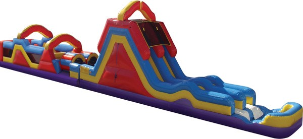 Monster Obstacle Course With Slide